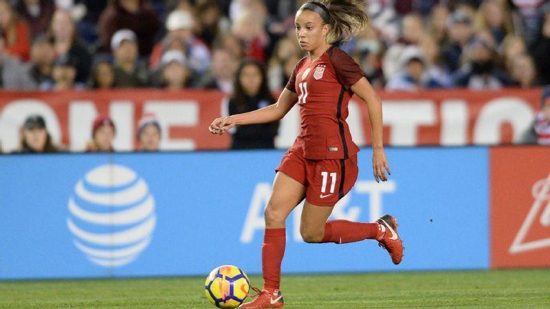 Mallory Pugh powers U S  women's national soccer team to 5-1