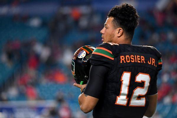 Miami going back to Malik Rosier as starting quarterback, replacing N'Koshi Perry