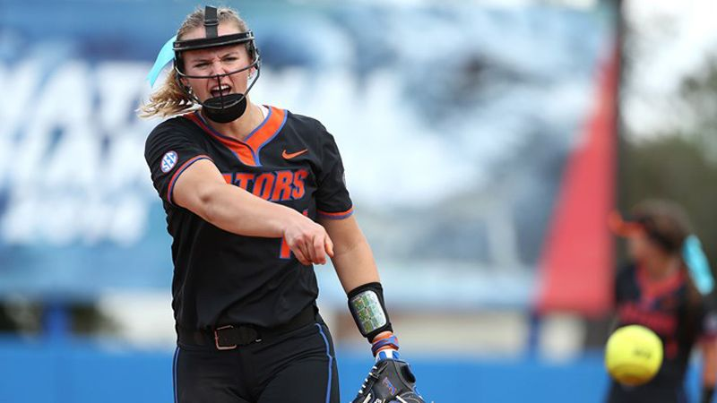 Barnhill throws perfect game, Gators grab two shutouts