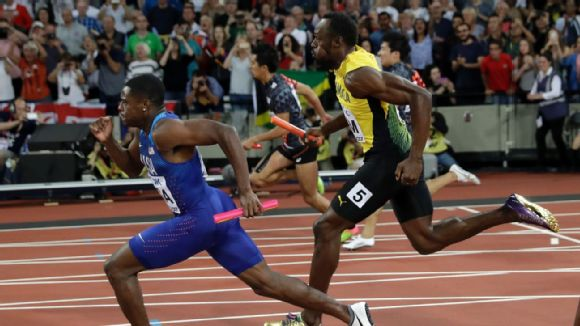 Christian Coleman and Usain Bolt