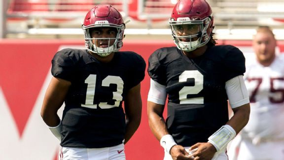 It's Jalen vs. Tua time, as Alabama gets ready to kick off spring ball