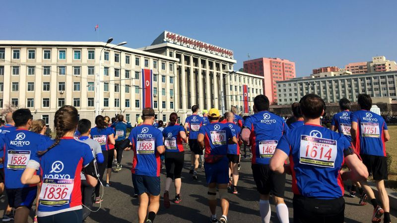 Essay  Rebecca High Explains Her Obsession With Running A Marathon  Runners Hit The Streets Of Pyongyang In The Early Moments Of The   Marathon All Proposal Essay Template also Write My Format  Types Of English Essays