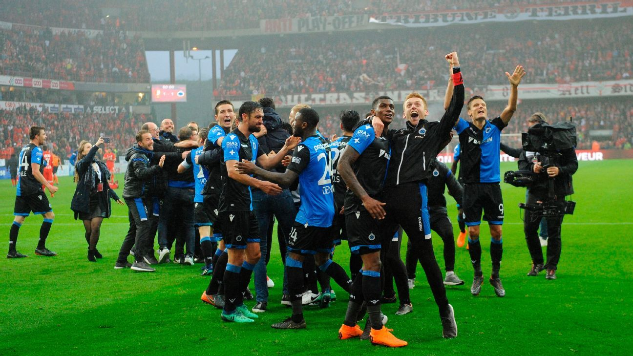 Club Brugge hold Standard Liege to win second Belgian title in three years