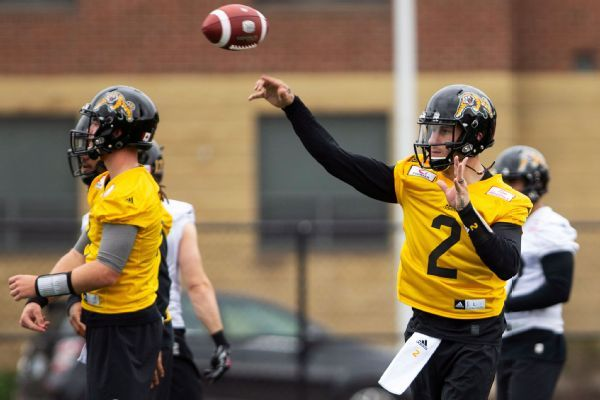 Johnny Manziel watches for much of first day of Tiger-Cats' camp