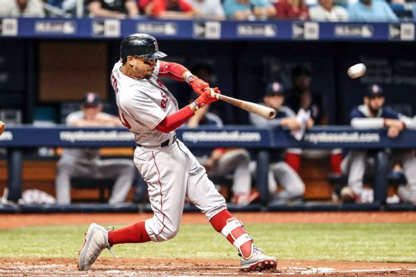 Mookie Betts scratched with tightness in side