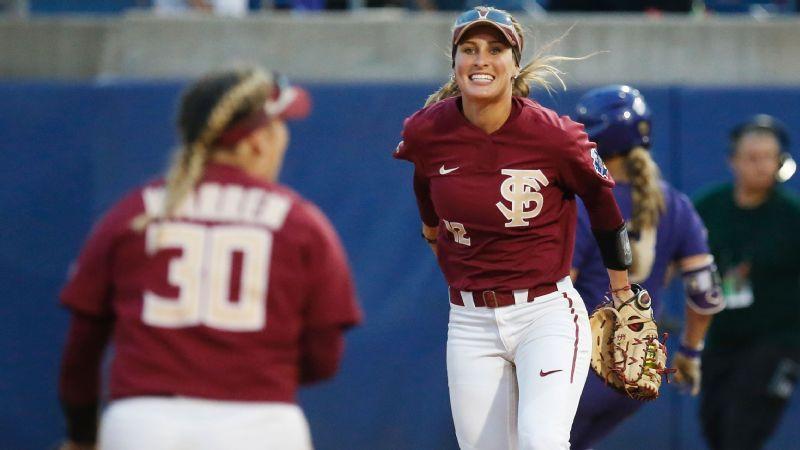 2018 Women S College World Series Florida State Seminoles Jessie