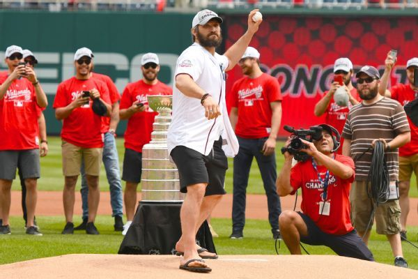 Alex Ovechkin gets mulligan after sailing first pitch at Nats game