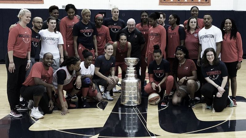 The Mystics had a special visitor at Sunday's practice
