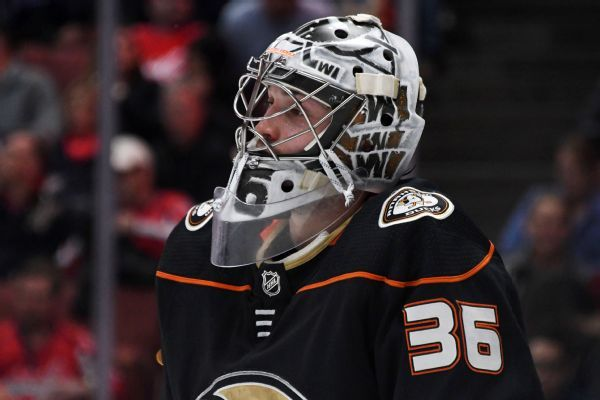 Ducks sign G John Gibson to 8-year, $51.2M extension