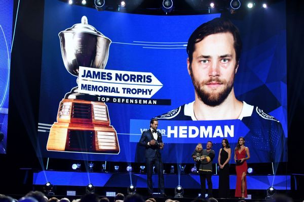 Victor Hedman wins Norris Trophy; Mathew Barzal named best rookie