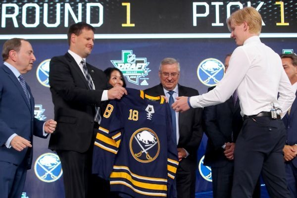 Sabres make Rasmus Dahlin first overall pick; Hurricanes take Andrei Svechnikov at No. 2