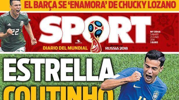 "Barcelona ""enamorado de Chucky Lozano"": prensa catalana"