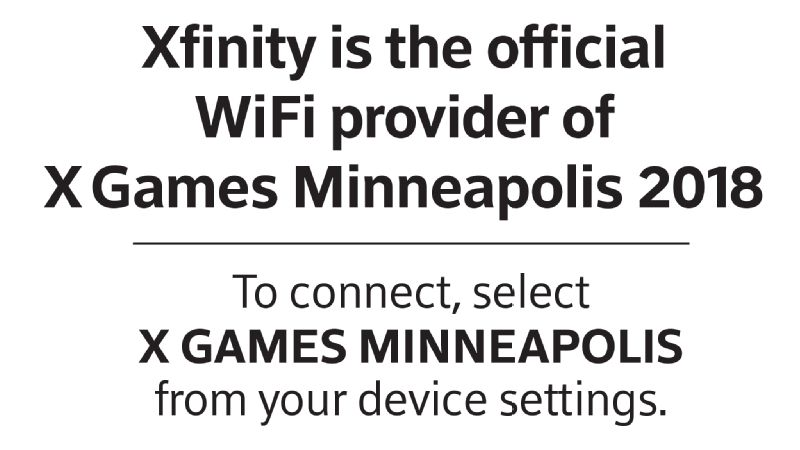 X Games Minneapolis 2018 -- Xfinity WiFi