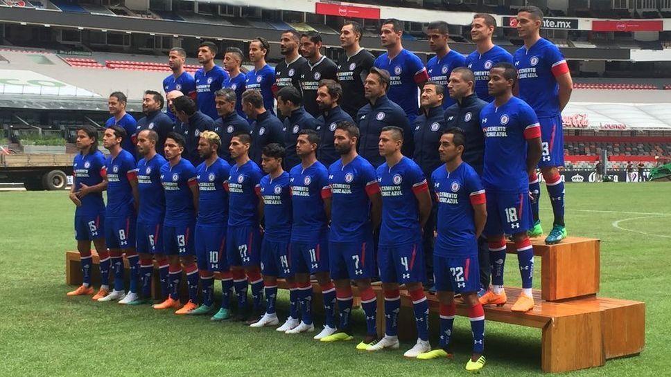 Fotografía oficial de Cruz Azul es tomada en el Estadio Azteca