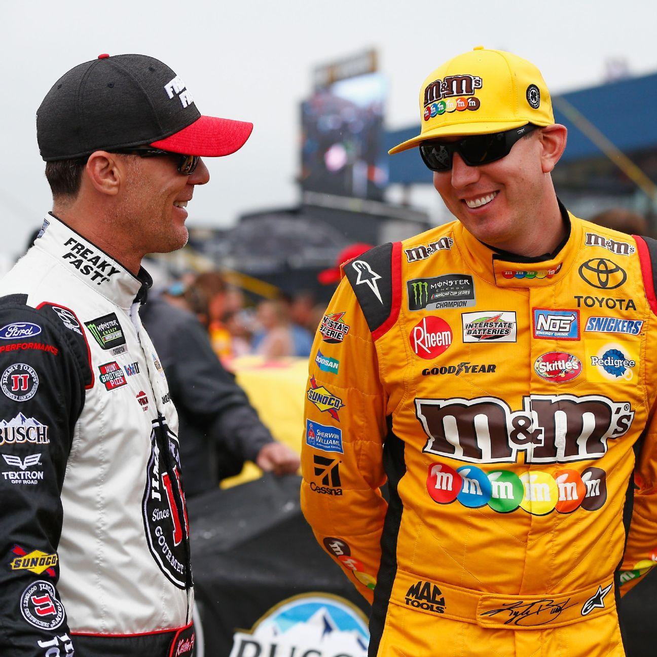 Denny Hamlin leaves best pit stall to JGR teammate Kyle Busch