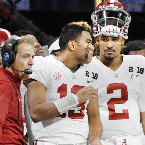 Nick Saban plans to keep playing both Tua Tagovailoa and Jalen Hurts all season