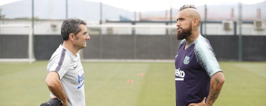 Valverde admite que llamó al orden a Arturo Vidal