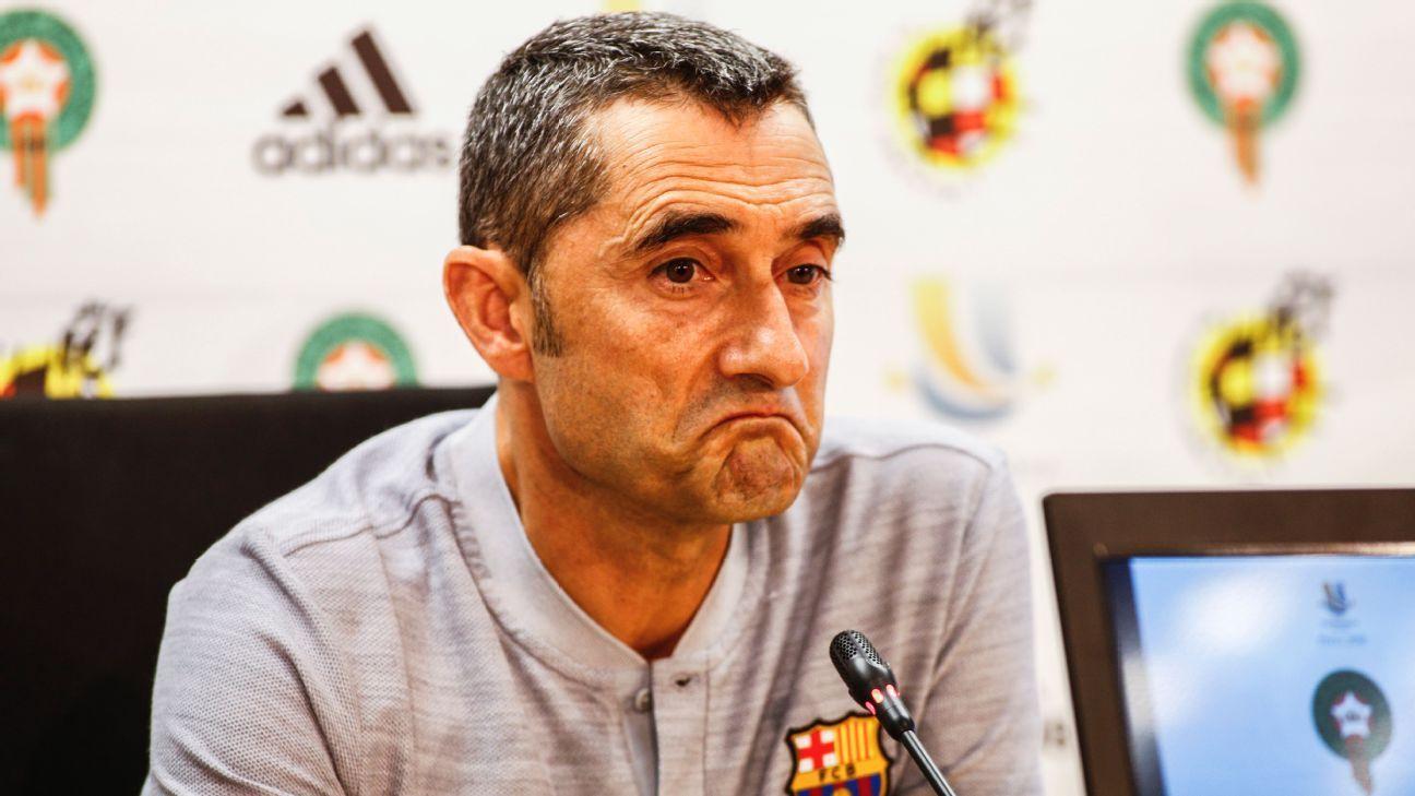 Barcelona contract talks can wait until later - coach Ernesto Valverde