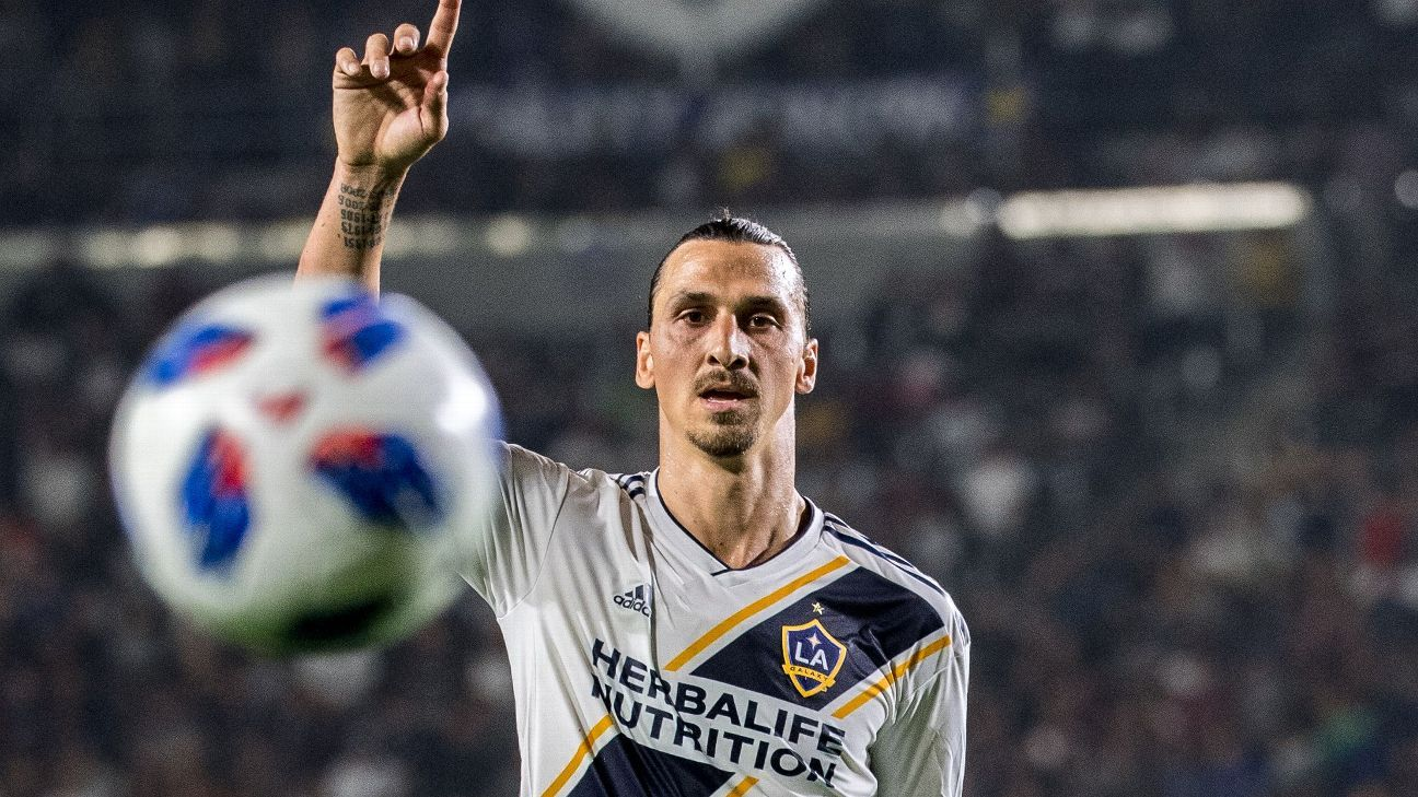 MLS fines Zlatan Ibrahimovic again for putting hands on opponent