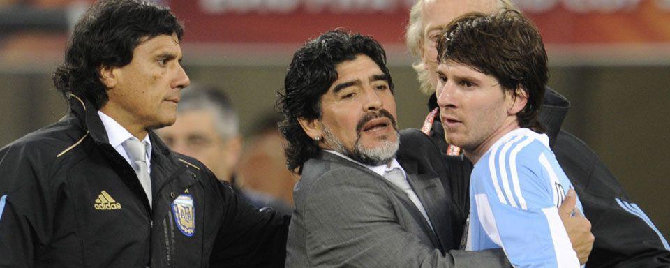 Messi... Y el recuerdo de Maradona