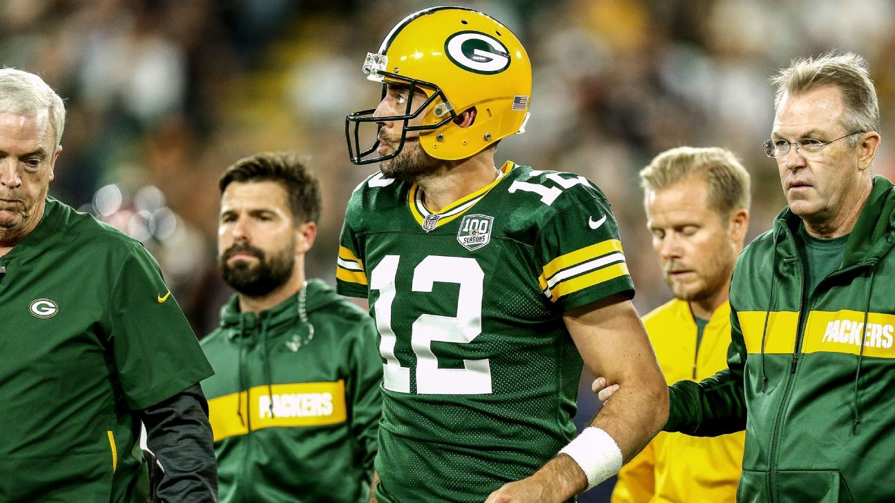 "Sources: Aaron Rodgers wants to play against Vikings despite an ""unusual"" knee injury"
