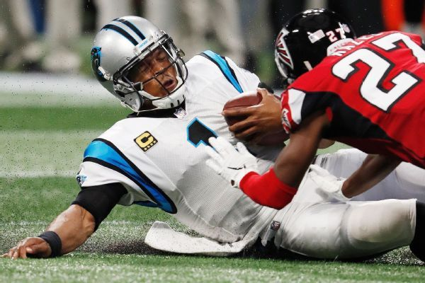 Source: NFL fines Falcons' Damontae Kazee for helmet hit on Cam Newton