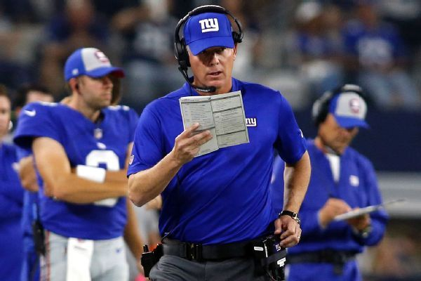 Giants' Pat Shurmur: No second-guessing two-point attempt, QB sneaks