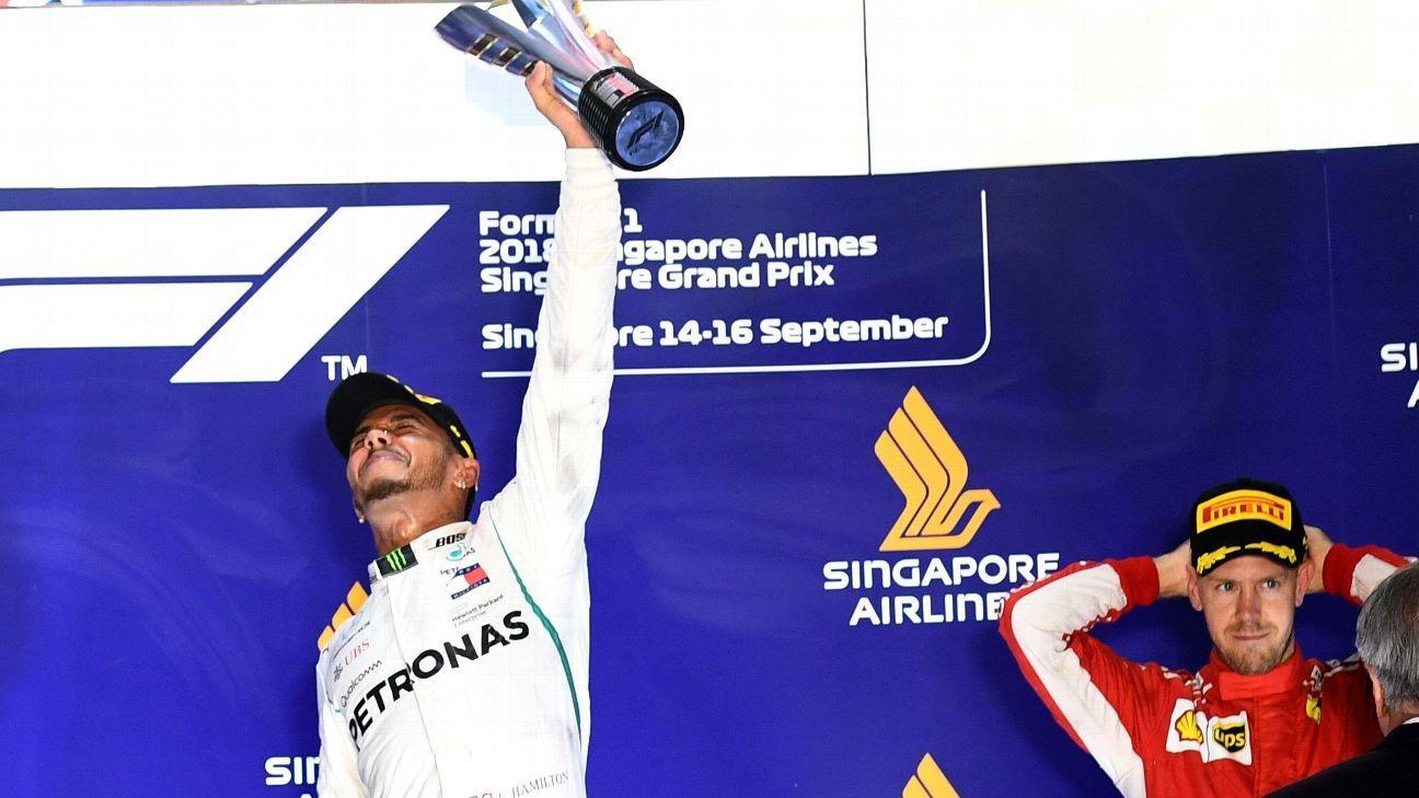 La permutaciones del campeonato luego de la victoria de Hamilton
