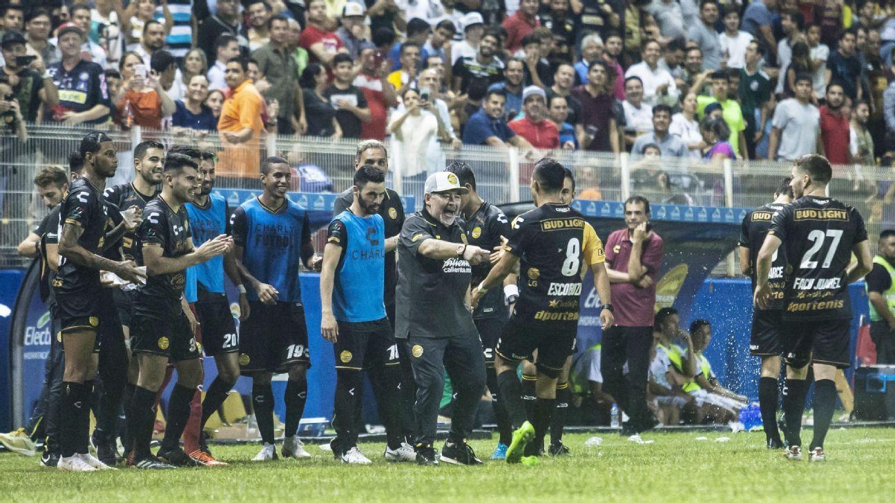 "Diego Maradona on goal celebrations: ""If my heart explodes I hope it's on a pitch"""