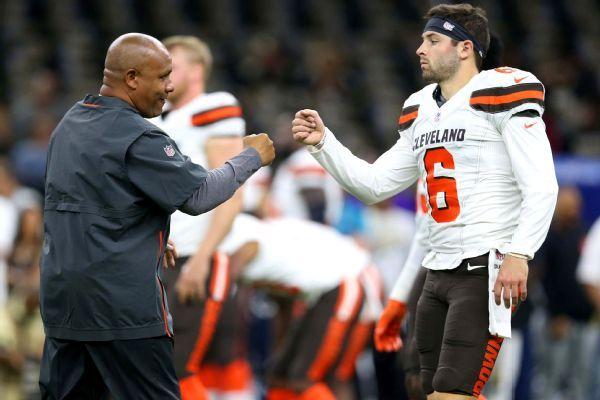 Baker Mayfield makes NFL debut for Browns after Tyrod Taylor injured
