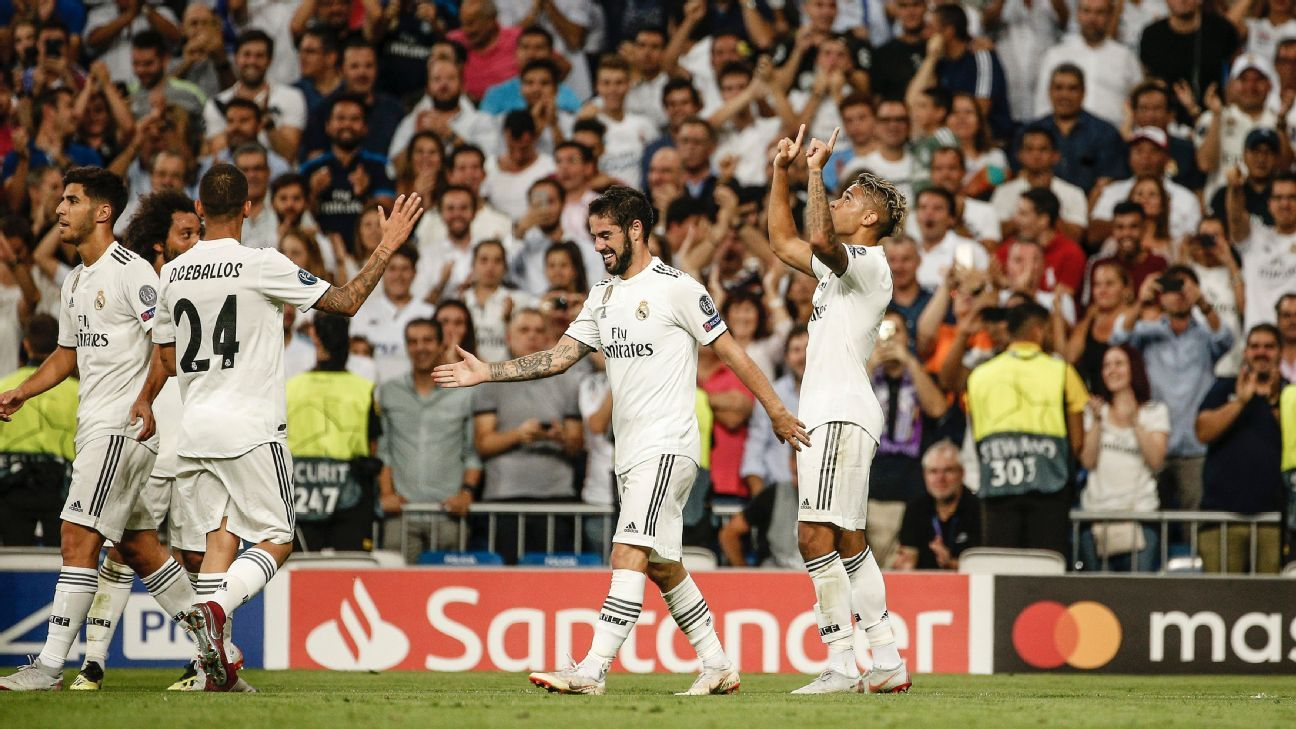 Real Madrid's Mariano elated after scoring first Champions League goal