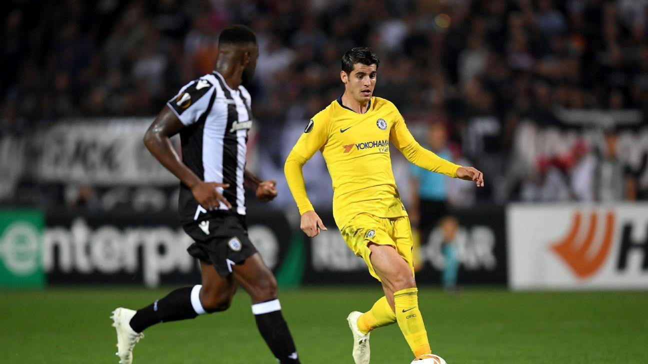 Alvaro Morata's struggles continue while Andreas Christensen impresses at PAOK