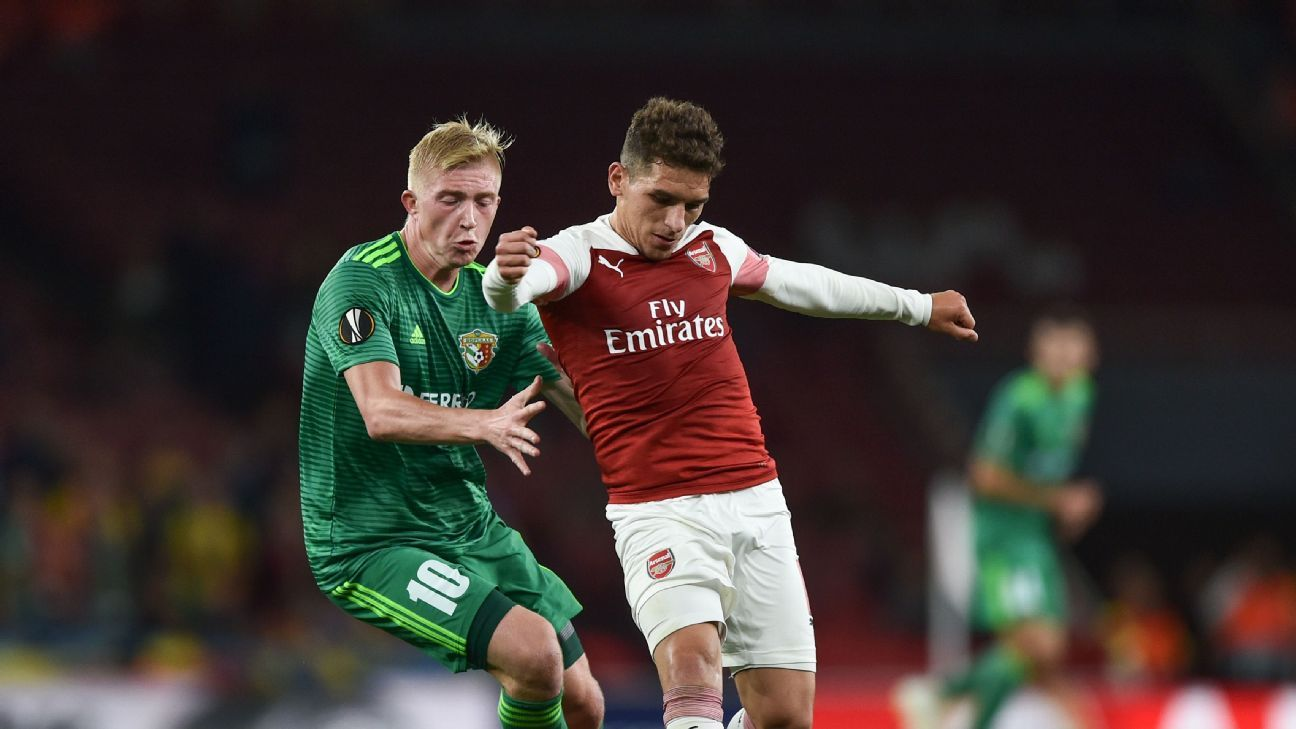 Lucas Torreira excels, Pierre-Emerick Aubameyang back in the goals as Arsenal cruise in Europe