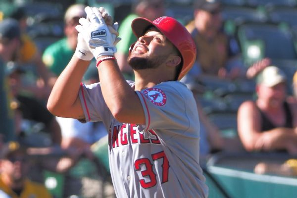 Angels' Francisco Arcia makes history by catching, pitching, homering in same game