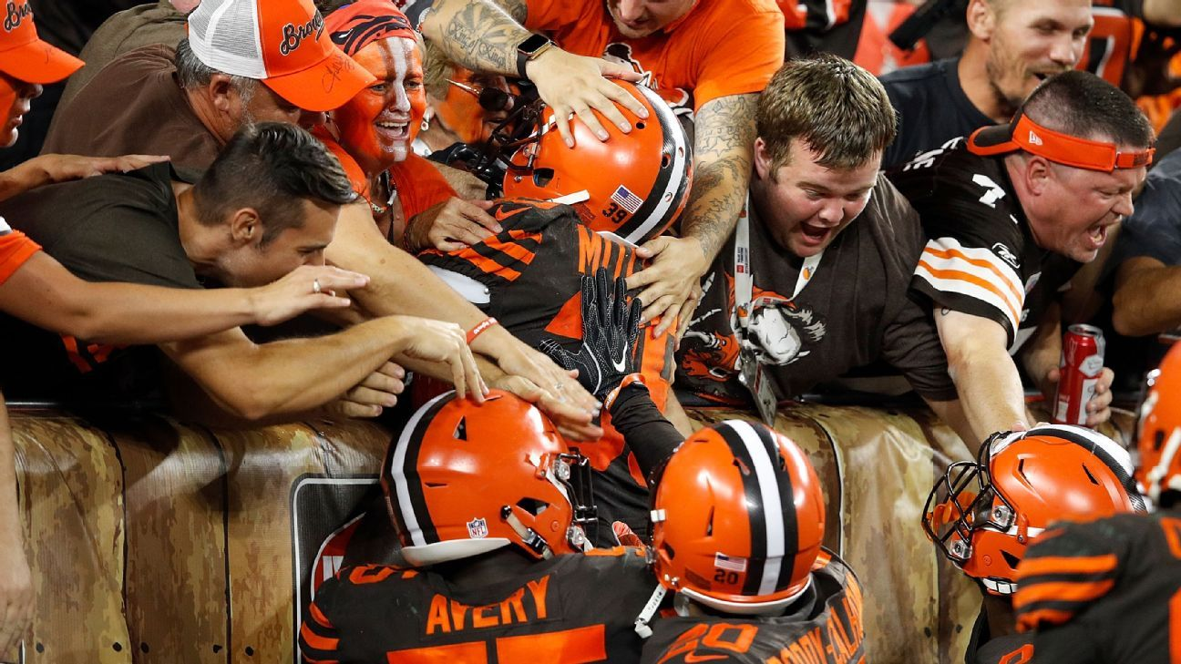 La ciudad de Cleveland estalla de júbilo por el triunfo de los Browns