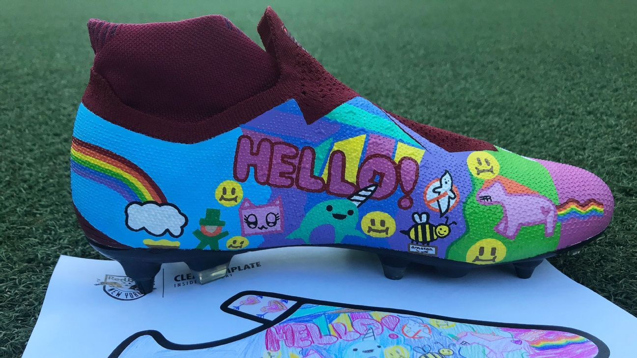 New York Red Bulls to wear hand-painted boots to raise awareness for pediatric cancer