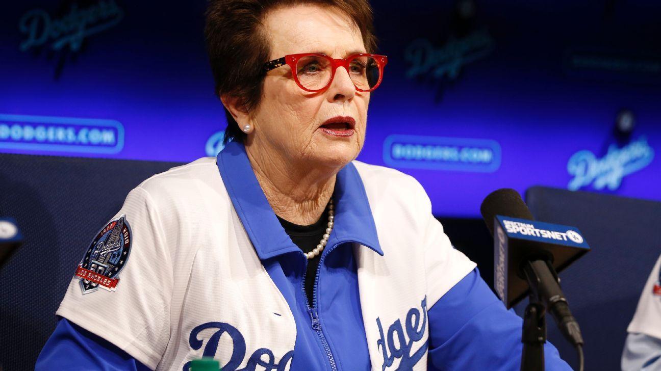 Billie Jean King es accionista minoritaria de Dodgers