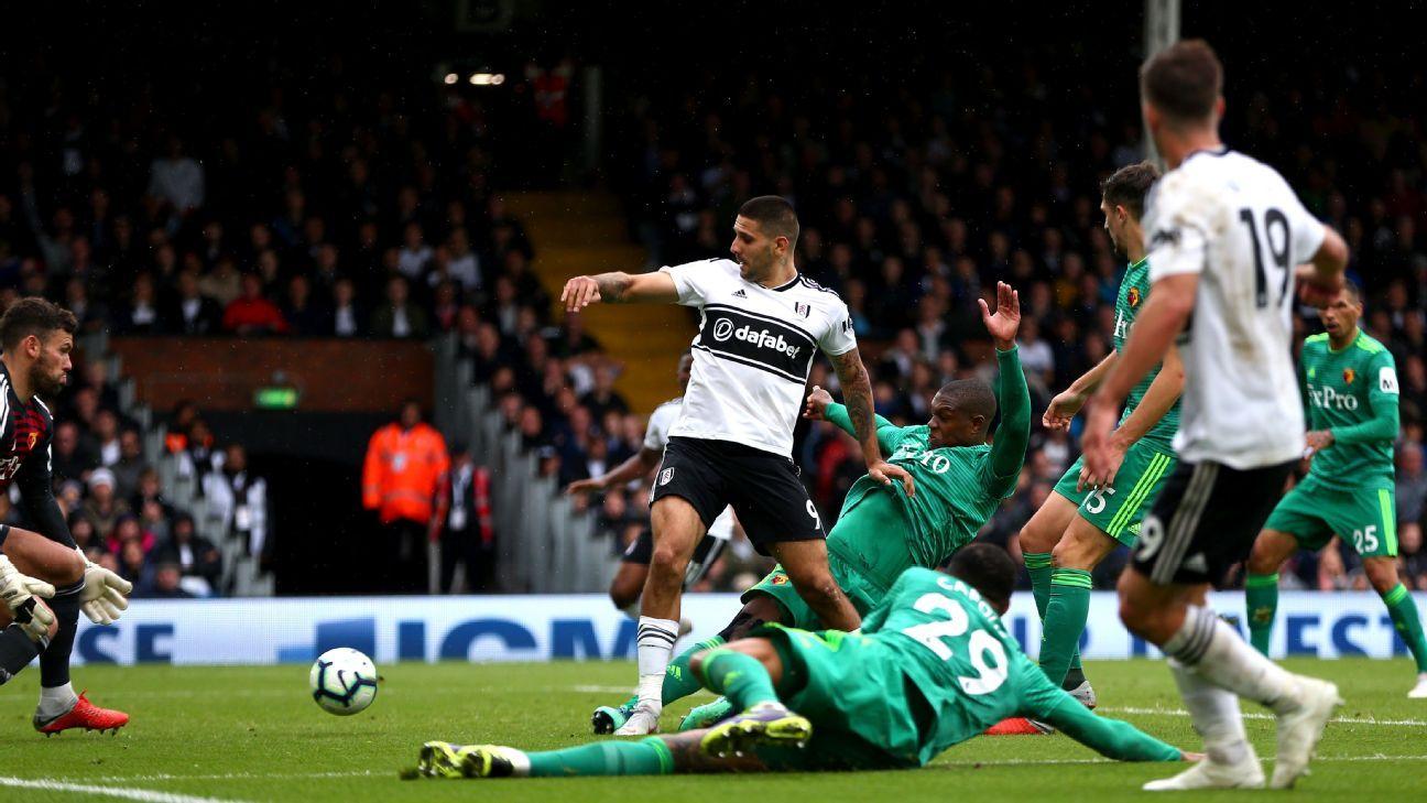 Fulham striker Aleksandar Mitrovic rescues point against Watford