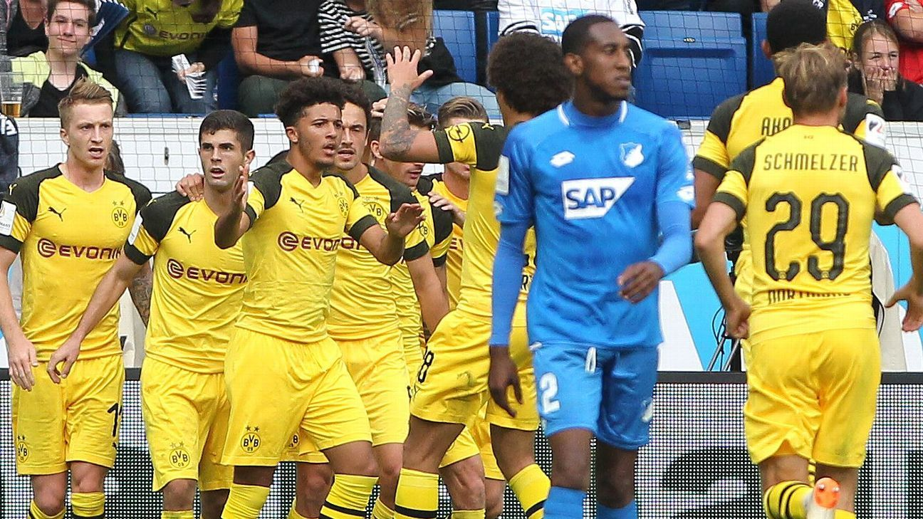 Christian Pulisic scores late to earn Borussia Dortmund a point against Hoffenheim