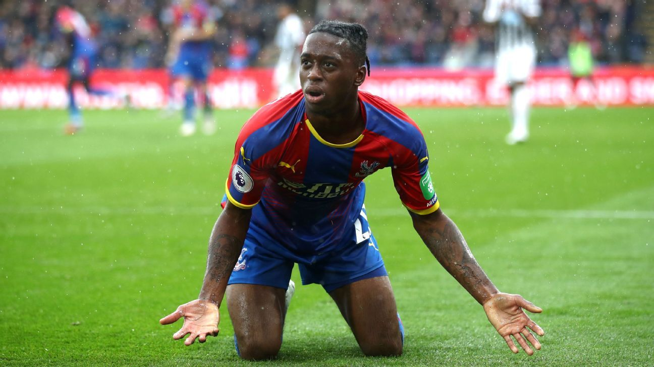 Crystal Palace defender Aaron Wan-Bissaka struck by bottle at Newcastle