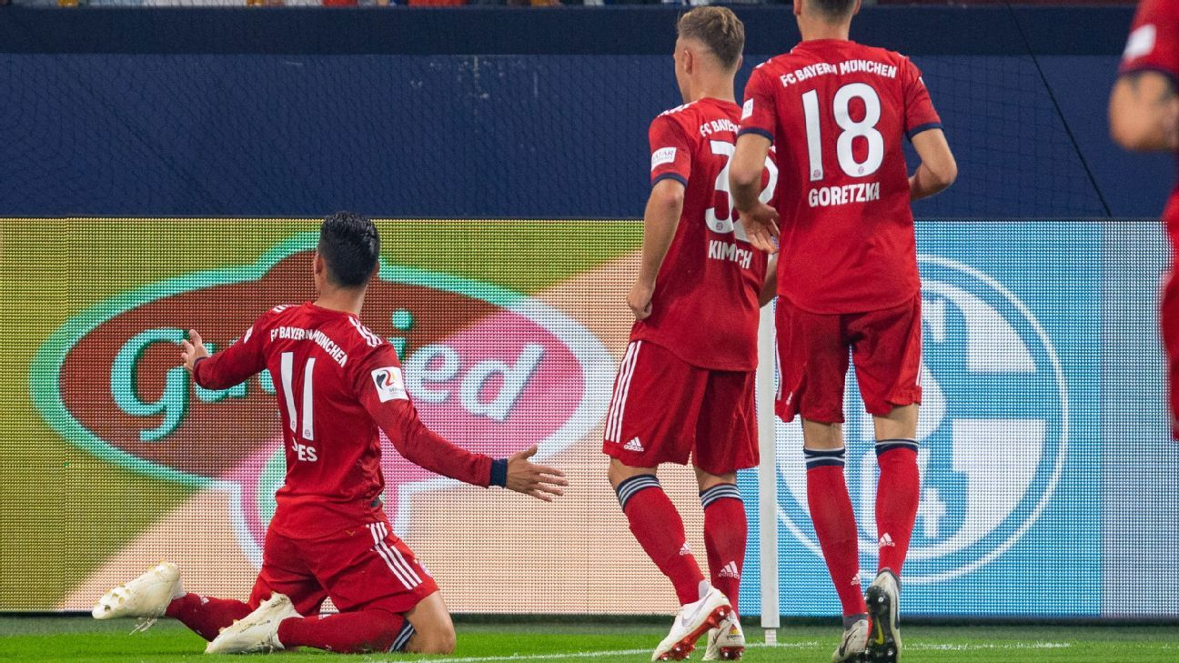 James scores as Bayern Munich beat Schalke, Weston McKinnie limps off