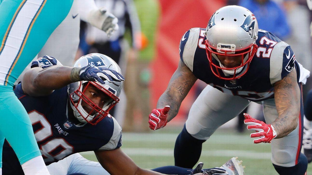 Los defensivos Patrick Chung y Trey Flowers son bajas para los Patriots