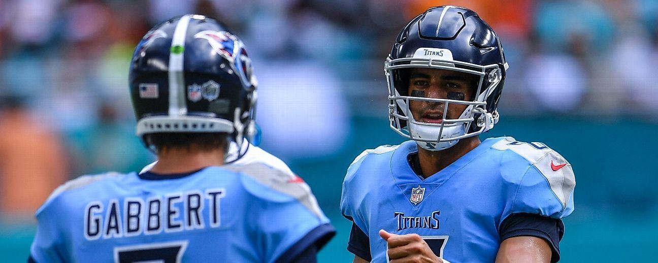 Fuentes: Titans planean usar a QB Blaine Gabbert como titular ante Jaguars