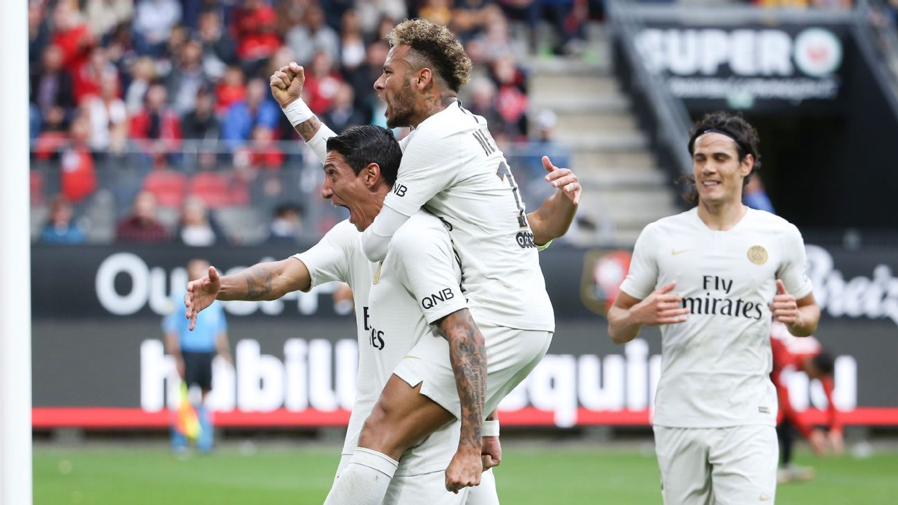 PSG comeback to beat Rennes and move clear at top of Ligue 1