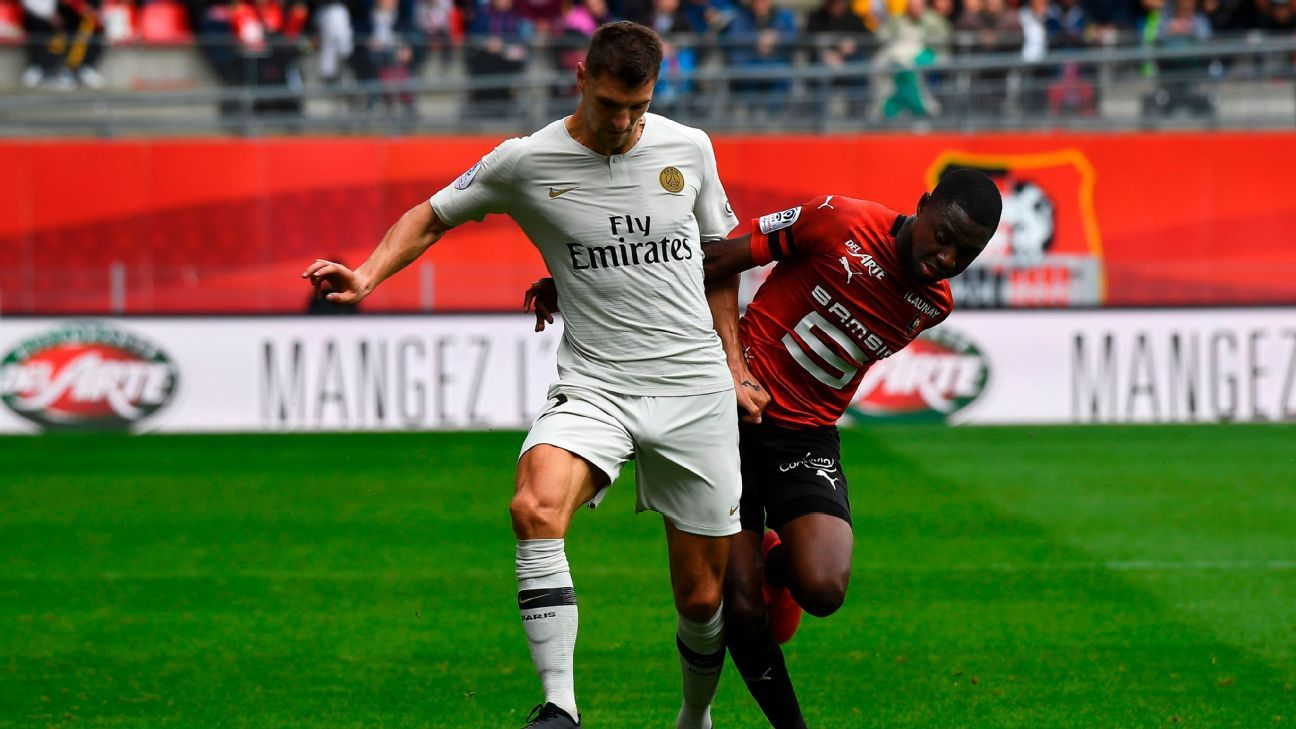 Neymar 6/10, Thomas Meunier 8/10 in PSG comeback win at Rennes