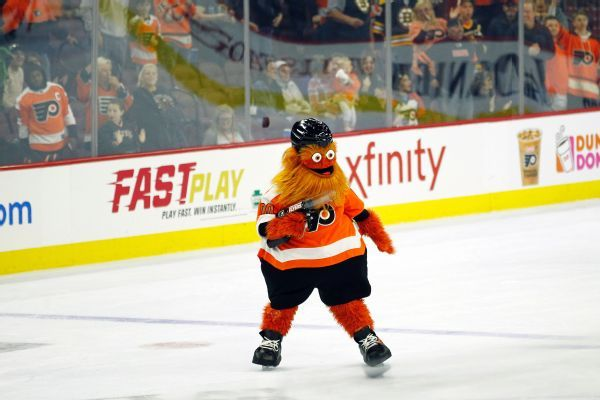 Flyers introduce new orange, fuzzy mascot 'Gritty,' relish reaction