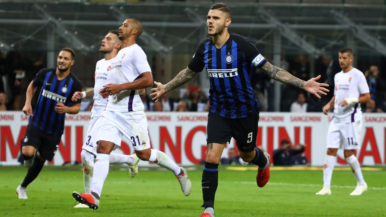 Inter Milan earn lucky win against Fiorentina despite second-half lapse
