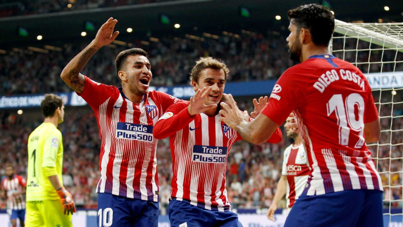 Angel Correa, Koke impress as Atletico Madrid stroll in Derbi Madrileno tune-up
