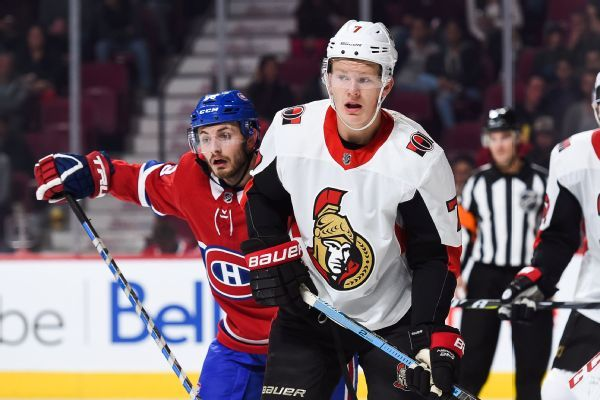 Senators rookie Brady Tkachuk sidelined with torn ligament