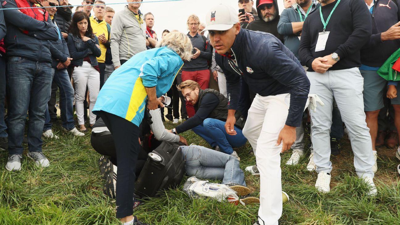 La fan golpeada por una bola de golf, amenaza con demandar